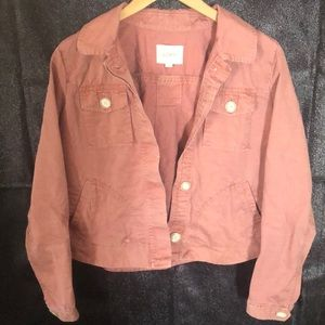 Ann Tayler pink jacket size small.